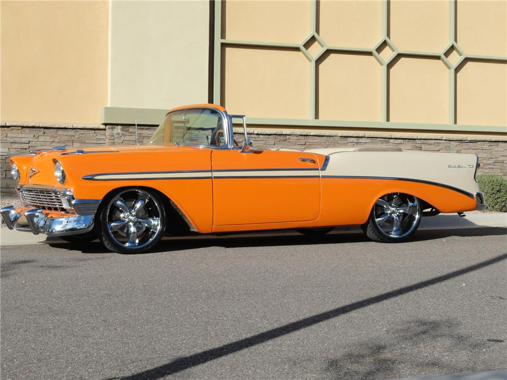 1956 CHEVROLET BEL AIR CUSTOM ROADSTER - Side Profile - 117436