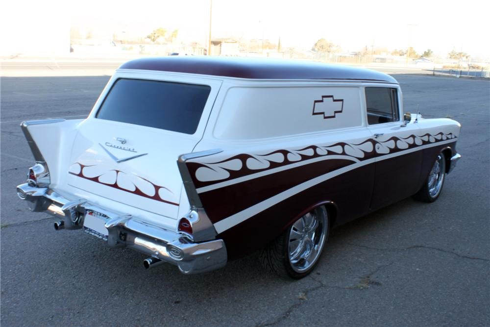 1957 CHEVROLET SEDAN DELIVERY CUSTOM  2 DOOR - Rear 3/4 - 117439