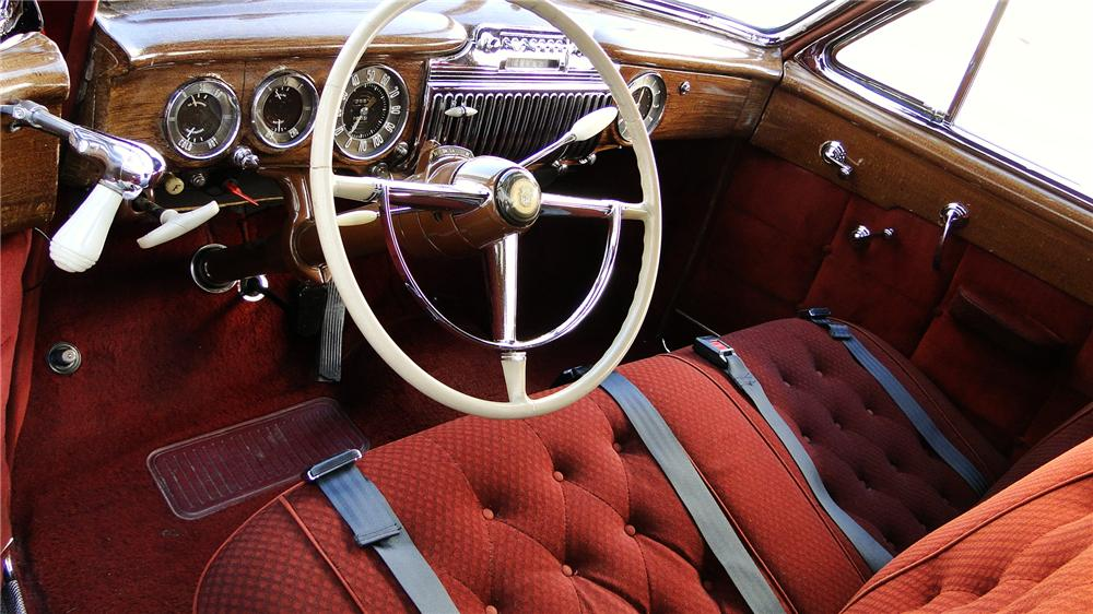 1947 CADILLAC FLEETWOOD 60 SPECIAL 4 DOOR SEDAN - Interior - 117444