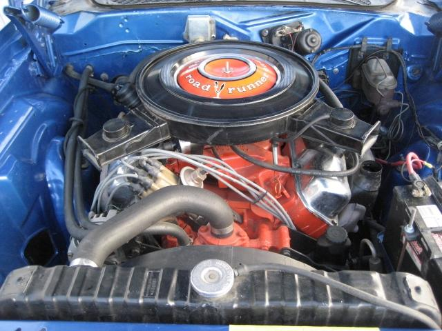 1971 PLYMOUTH ROAD RUNNER 2 DOOR HARDTOP - Engine - 117459