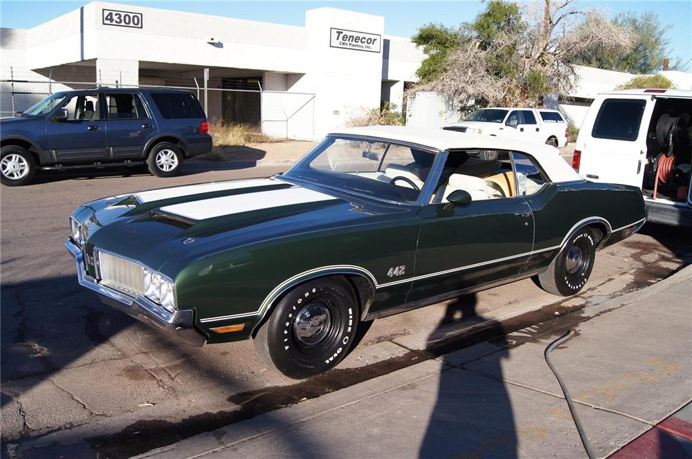 1970 OLDSMOBILE 442 CONVERTIBLE - Side Profile - 117479