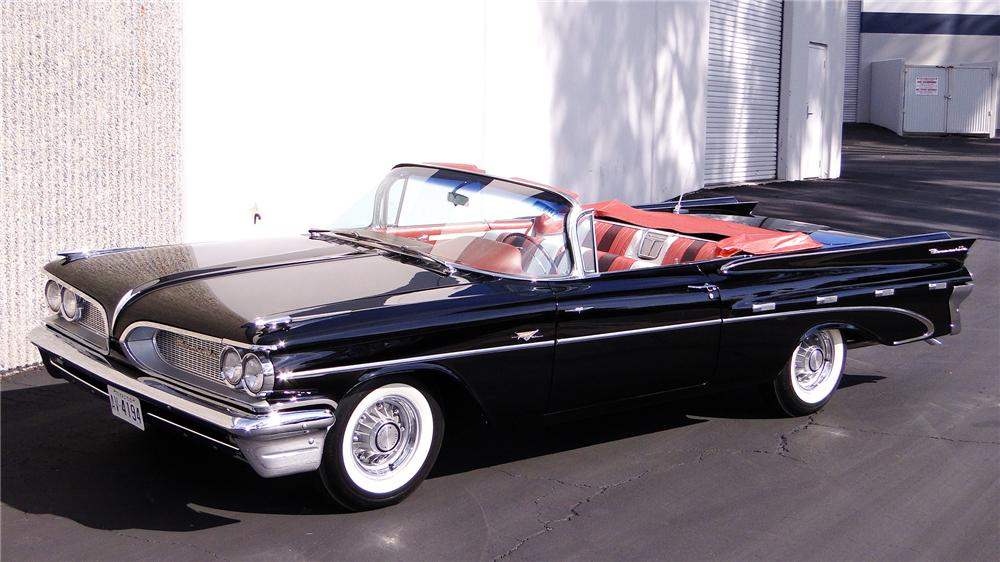 1959 PONTIAC BONNEVILLE TRI-POWER CONVERTIBLE - Front 3/4 - 117502