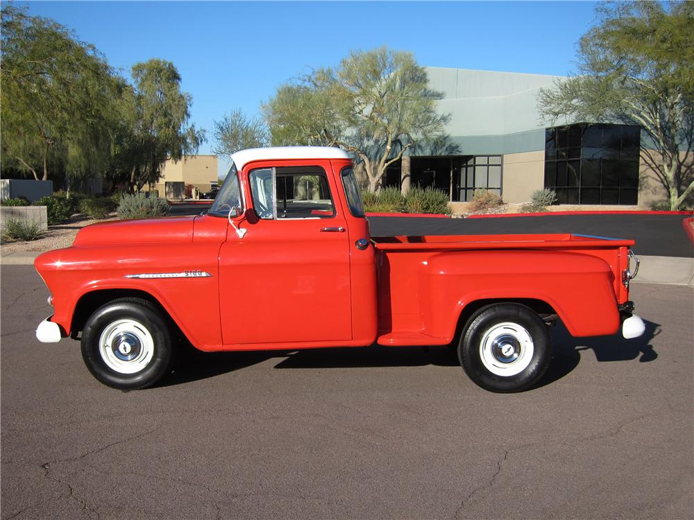 1955 CHEVROLET 3100 PICKUP - Side Profile - 117512