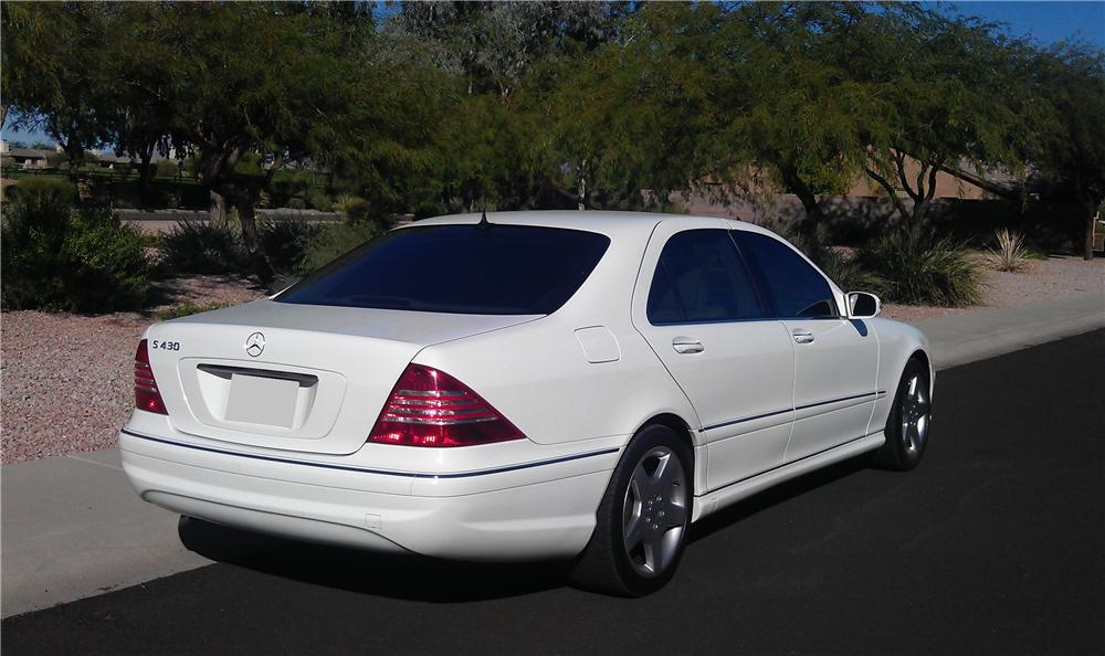 2003 MERCEDES-BENZ S430 SPORT SEDAN - Rear 3/4 - 117525
