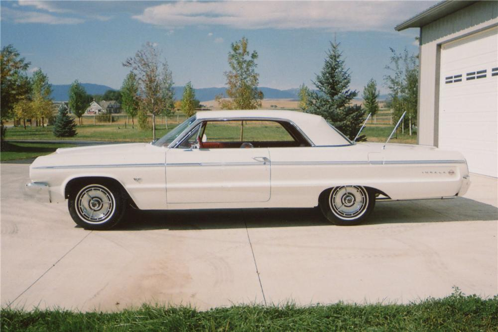 1964 CHEVROLET IMPALA SS 2 DOOR HARDTOP - Side Profile - 117537