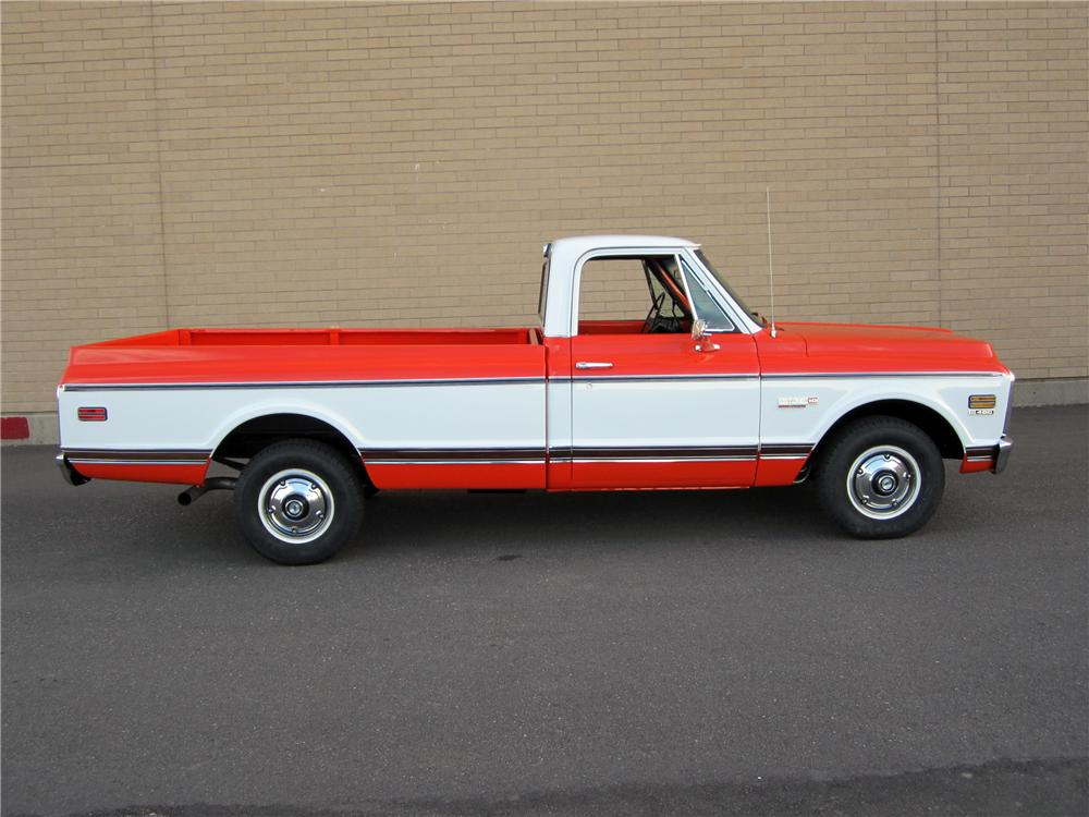 1971 CHEVROLET CHEYENNE PICKUP - Side Profile - 117552