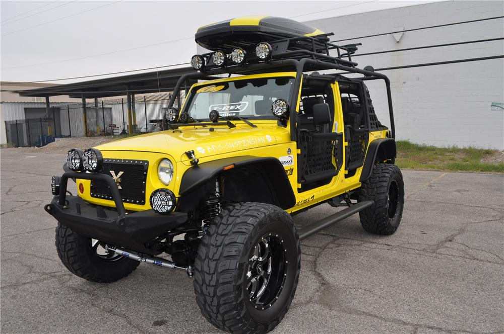 2009 JEEP WRANGLER CONVERTIBLE - Front 3/4 - 117676