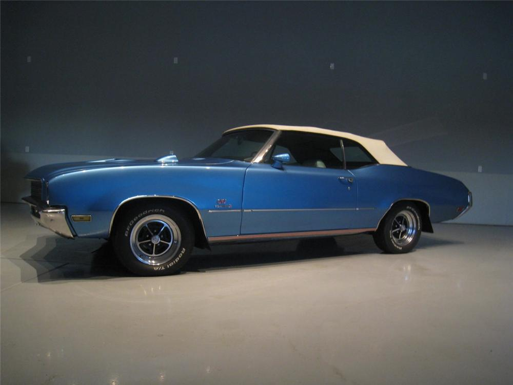 1971 BUICK GS STAGE 1 CONVERTIBLE - Side Profile - 117680
