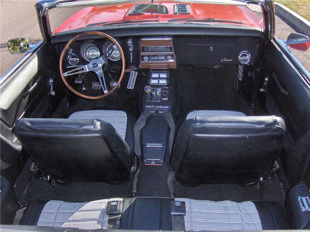 1968 CHEVROLET CAMARO CONVERTIBLE - Interior - 117683