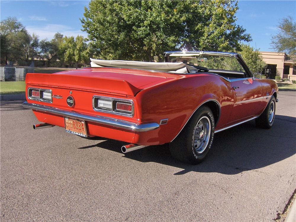 1968 CHEVROLET CAMARO CONVERTIBLE - Rear 3/4 - 117683