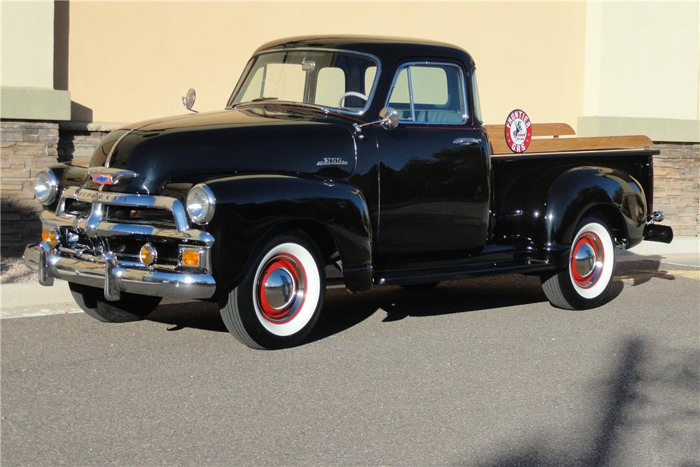 1954 CHEVROLET 3100 PICKUP - Front 3/4 - 117691
