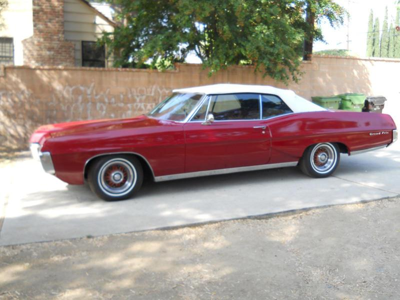 1967 PONTIAC GRAND PRIX CONVERTIBLE - Side Profile - 117694