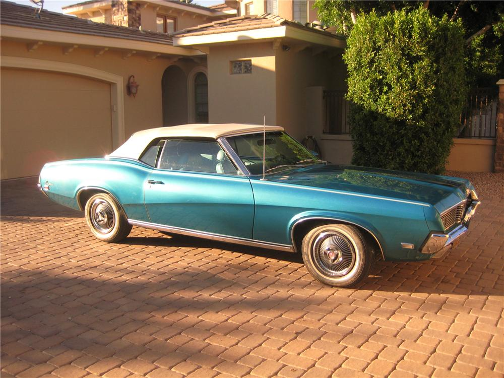 1969 MERCURY COUGAR XR7 CONVERTIBLE - Front 3/4 - 117747