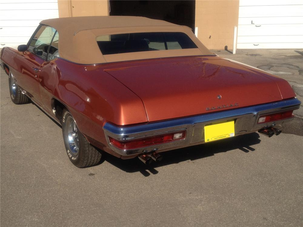 1972 PONTIAC LEMANS CONVERTIBLE - Rear 3/4 - 117752