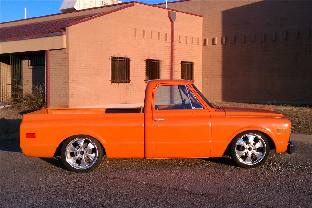 1972 GMC 1/2 TON CUSTOM PICKUP - Side Profile - 117764