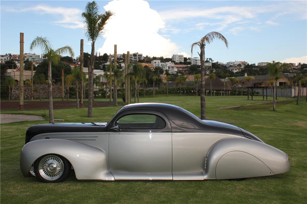 1939 LINCOLN ZEPHYR CUSTOM 2 DOOR COUPE - Side Profile - 117766