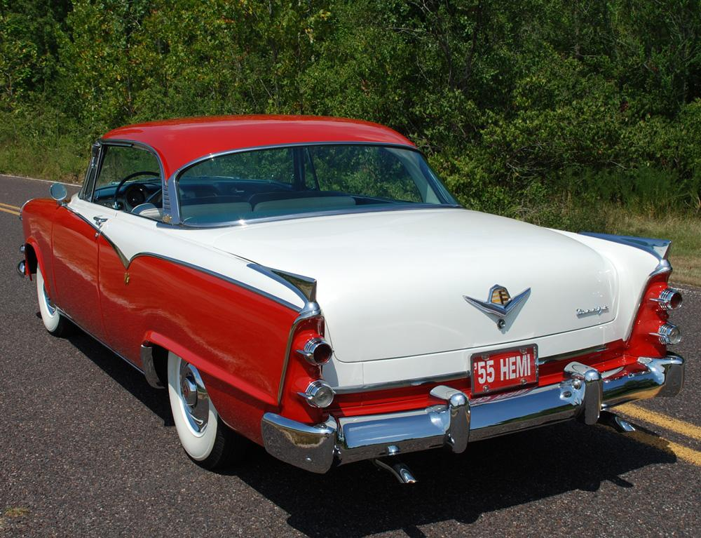 1955 DODGE CUSTOM ROYAL LANCER 2 DOOR HARDTOP - Rear 3/4 - 117771