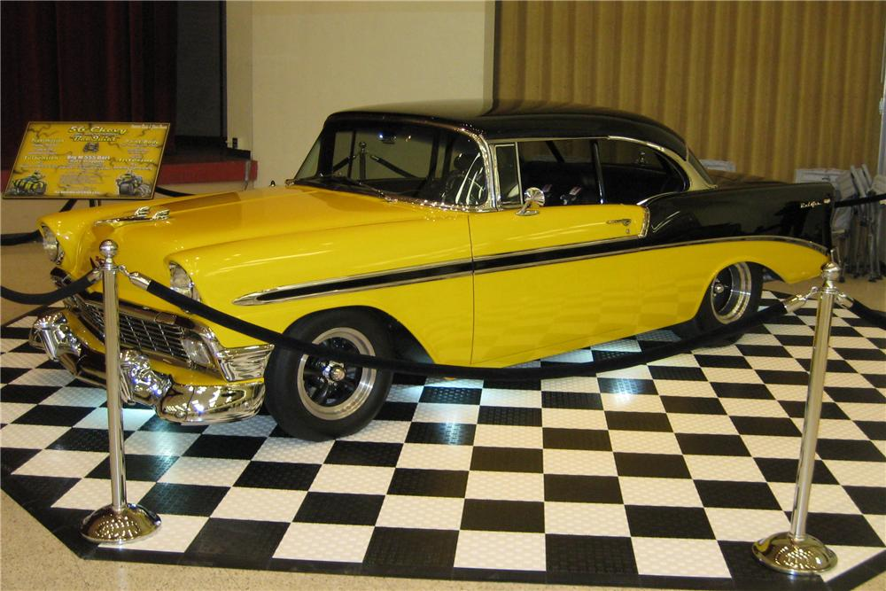 1956 CHEVROLET BEL AIR CUSTOM 2 DOOR HARDTOP - Front 3/4 - 117793