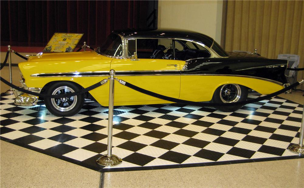 1956 CHEVROLET BEL AIR CUSTOM 2 DOOR HARDTOP - Side Profile - 117793