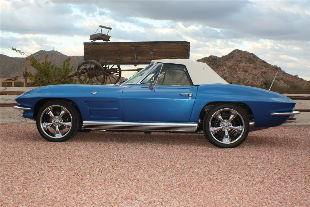 1964 CHEVROLET CORVETTE CONVERTIBLE - Side Profile - 117828