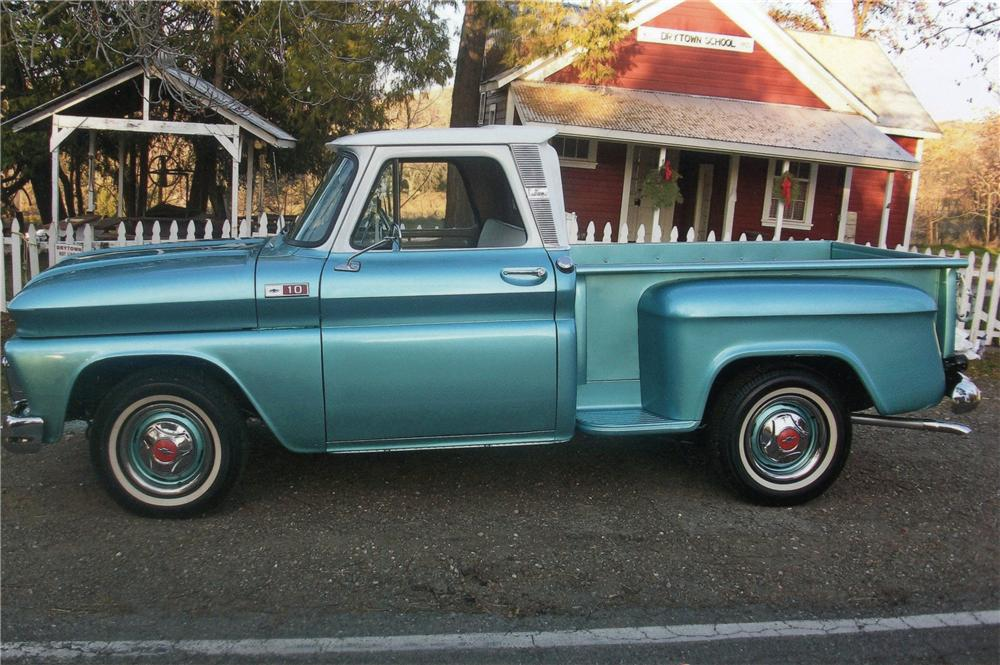 1965 CHEVROLET STEP-SIDE PICKUP - Side Profile - 117837