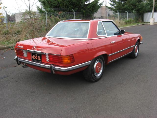 1973 MERCEDES-BENZ 450SL CONVERTIBLE - Rear 3/4 - 117842