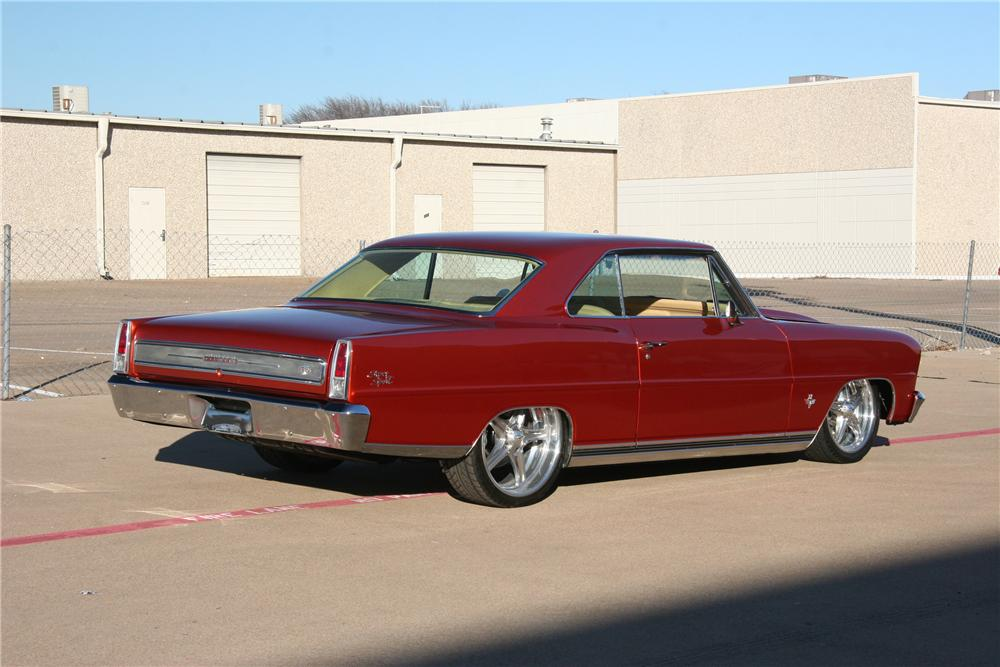 1966 CHEVROLET CHEVY II CUSTOM 2 DOOR COUPE - Rear 3/4 - 117897