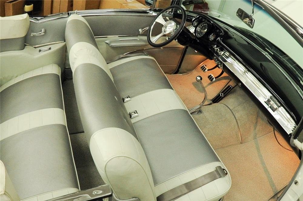 1957 CHEVROLET BEL AIR CUSTOM CONVERTIBLE - Interior - 118037