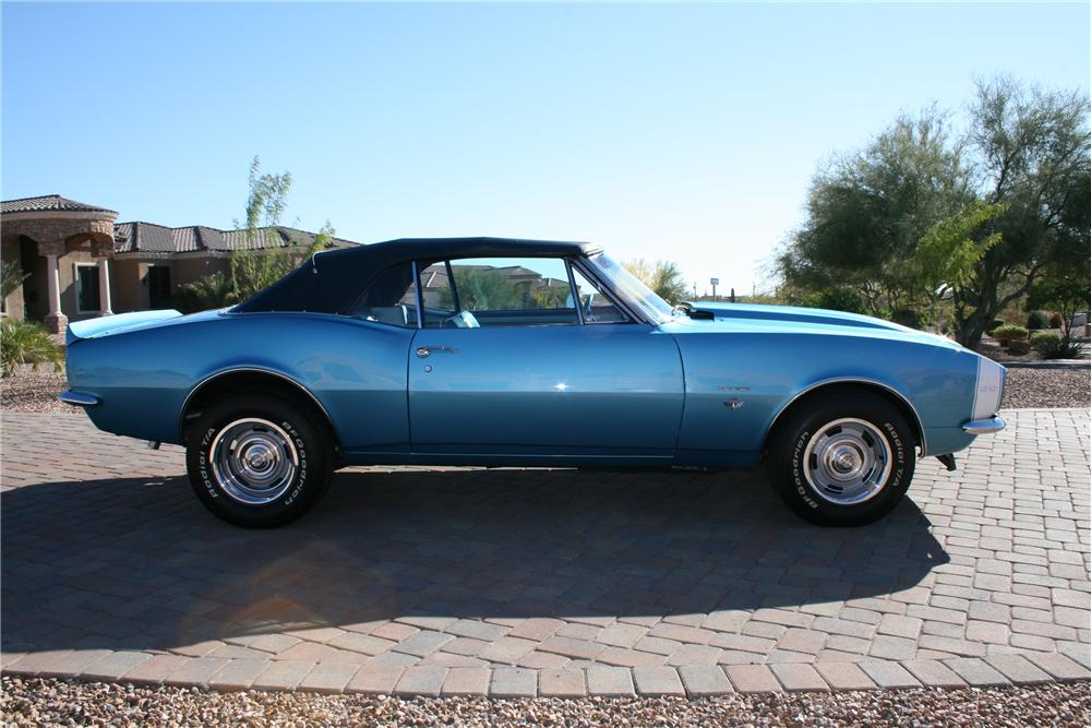 1967 CHEVROLET CAMARO CONVERTIBLE - Side Profile - 118071