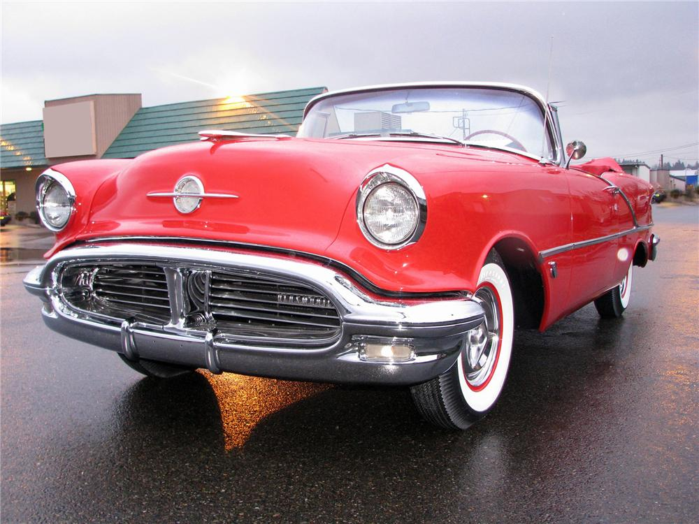 1956 OLDSMOBILE SUPER 88 CONVERTIBLE - Front 3/4 - 118079