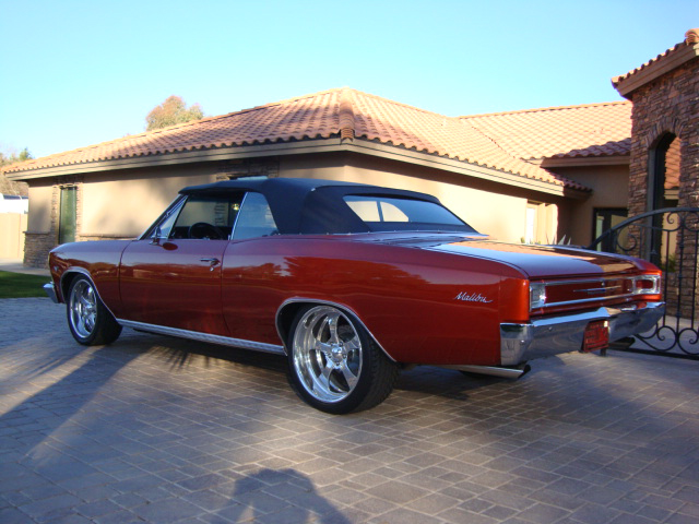 1966 CHEVROLET CHEVELLE MALIBU CUSTOM CONVERTIBLE - Rear 3/4 - 119793