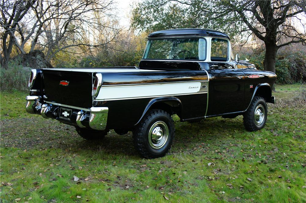1957 CHEVROLET CAMEO PICKUP - Rear 3/4 - 120073