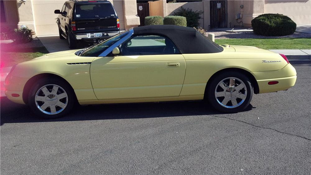 2002 FORD THUNDERBIRD CONVERTIBLE - Side Profile - 121434