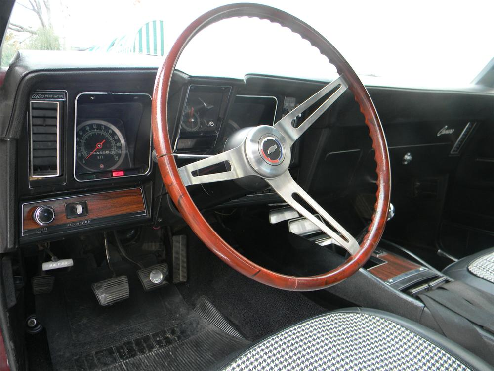 1969 CHEVROLET CAMARO Z/28 RS 2 DOOR COUPE - Interior - 125063