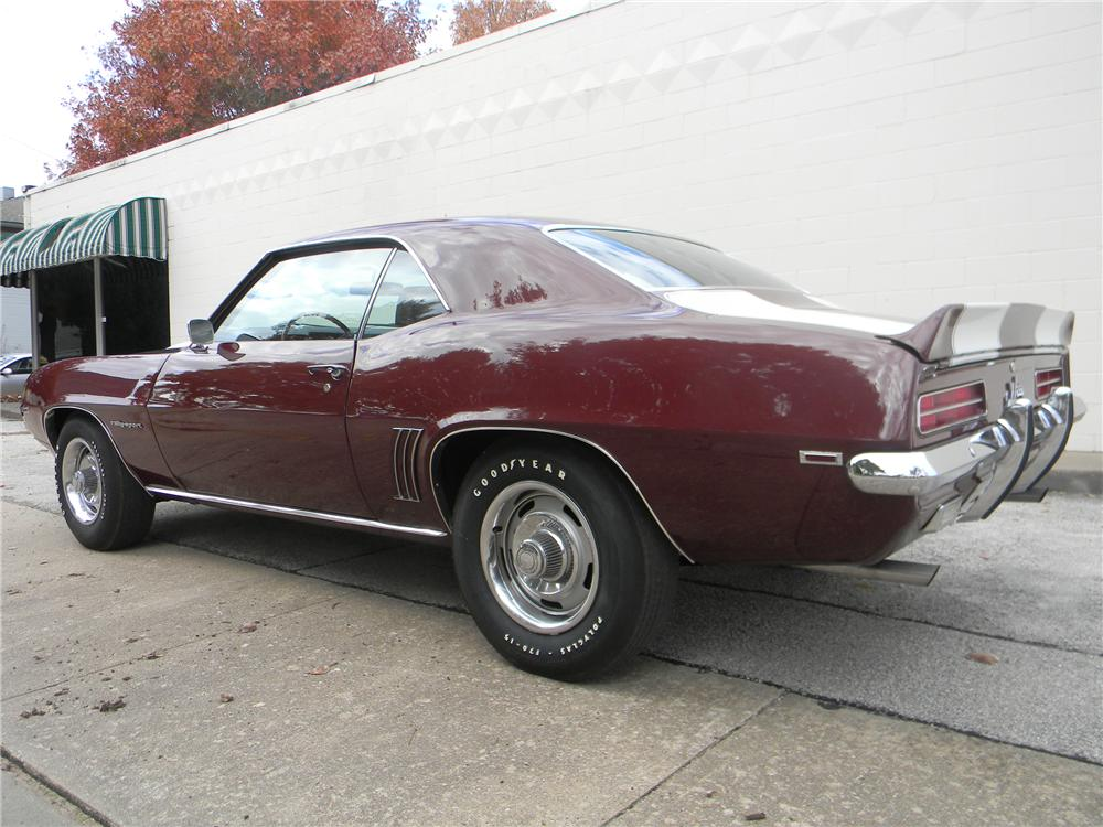 1969 CHEVROLET CAMARO Z/28 RS 2 DOOR COUPE - Rear 3/4 - 125063