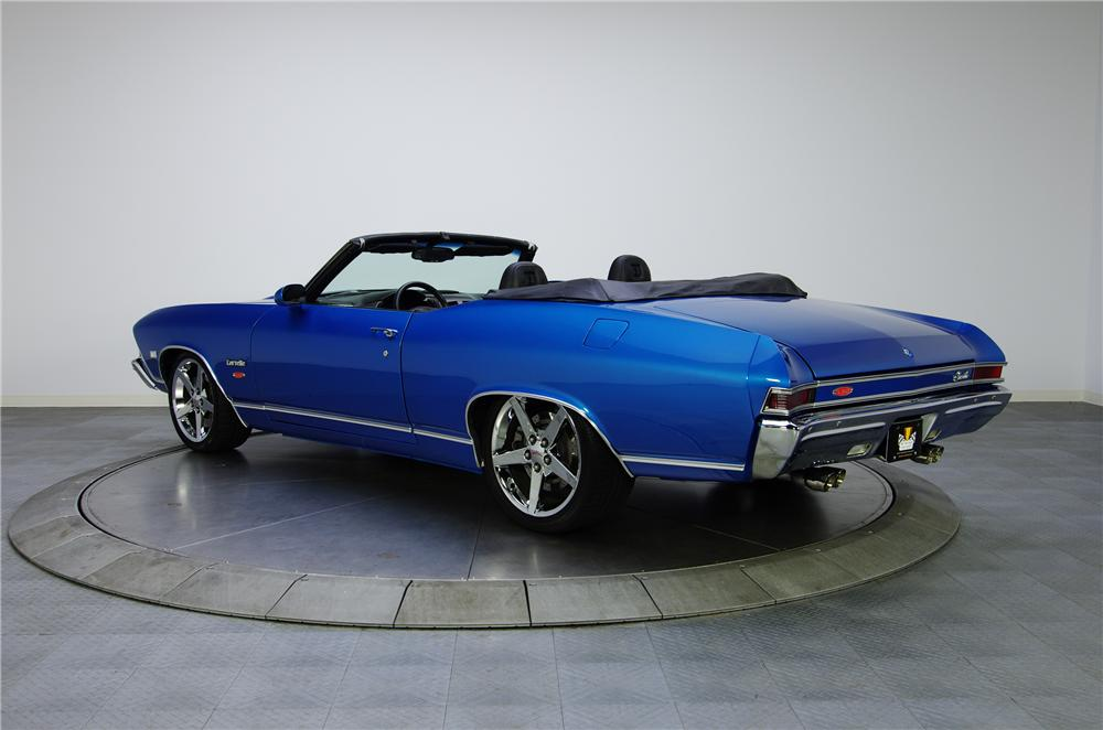 1968 CHEVROLET CHEVELLE CUSTOM CONVERTIBLE - Rear 3/4 - 125074