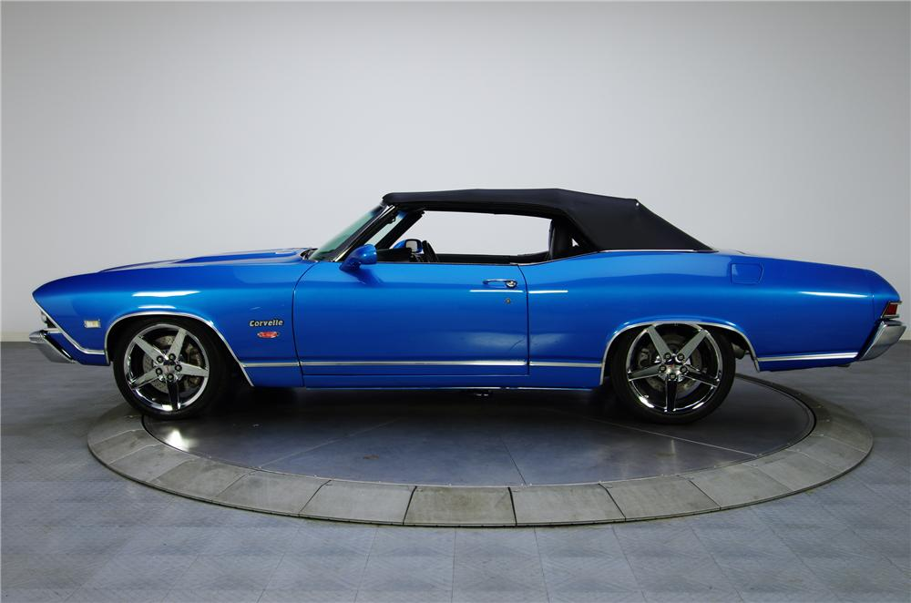 1968 CHEVROLET CHEVELLE CUSTOM CONVERTIBLE - Side Profile - 125074