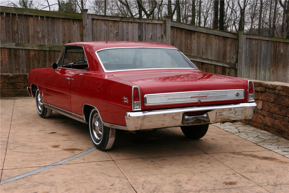 1966 CHEVROLET NOVA SS 2 DOOR COUPE - Rear 3/4 - 125086