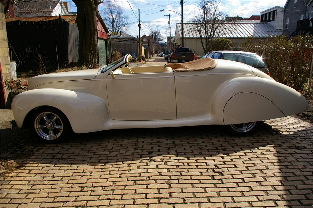 1939 LINCOLN ZEPHYR RE-CREATION CONVERTIBLE - Side Profile - 125092