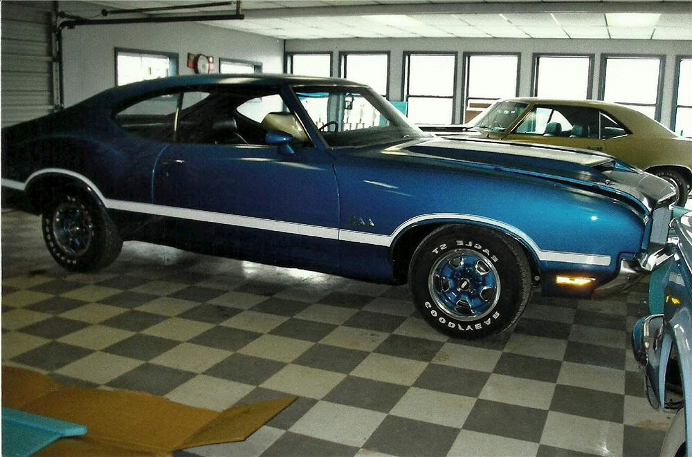 1971 OLDSMOBILE 442 2 DOOR COUPE - Side Profile - 125102
