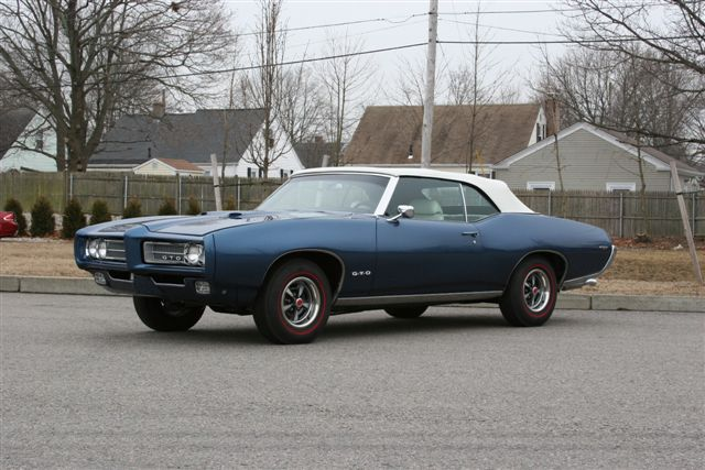 1969 PONTIAC GTO CONVERTIBLE - Side Profile - 125103