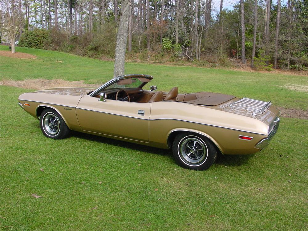 1971 DODGE CHALLENGER CONVERTIBLE - Side Profile - 125105