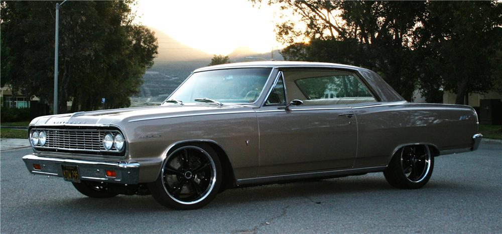 1964 CHEVROLET CHEVELLE CUSTOM 2 DOOR HARDTOP - Side Profile - 125114