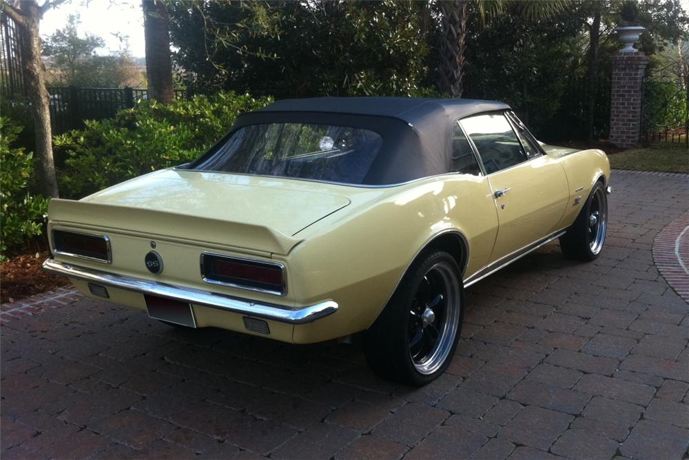 1967 CHEVROLET CAMARO CUSTOM CONVERTIBLE - Rear 3/4 - 125124