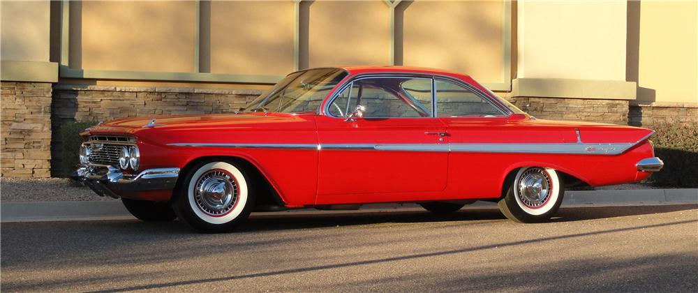 1961 CHEVROLET IMPALA BUBBLE TOP - Side Profile - 125129