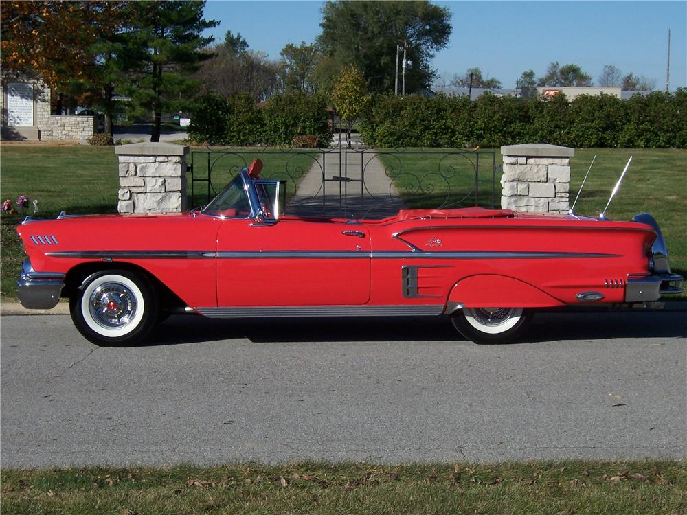 1958 CHEVROLET IMPALA CONVERTIBLE - Side Profile - 125135