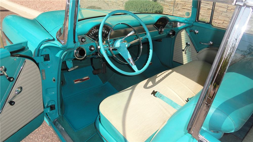 1955 CHEVROLET BEL AIR CUSTOM 2 DOOR HARDTOP - Interior - 125136