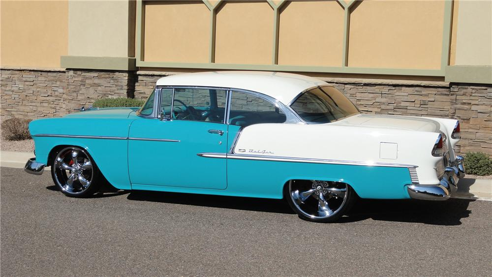 1955 CHEVROLET BEL AIR CUSTOM 2 DOOR HARDTOP - Side Profile - 125136