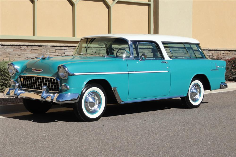 1955 CHEVROLET NOMAD WAGON - Front 3/4 - 125137
