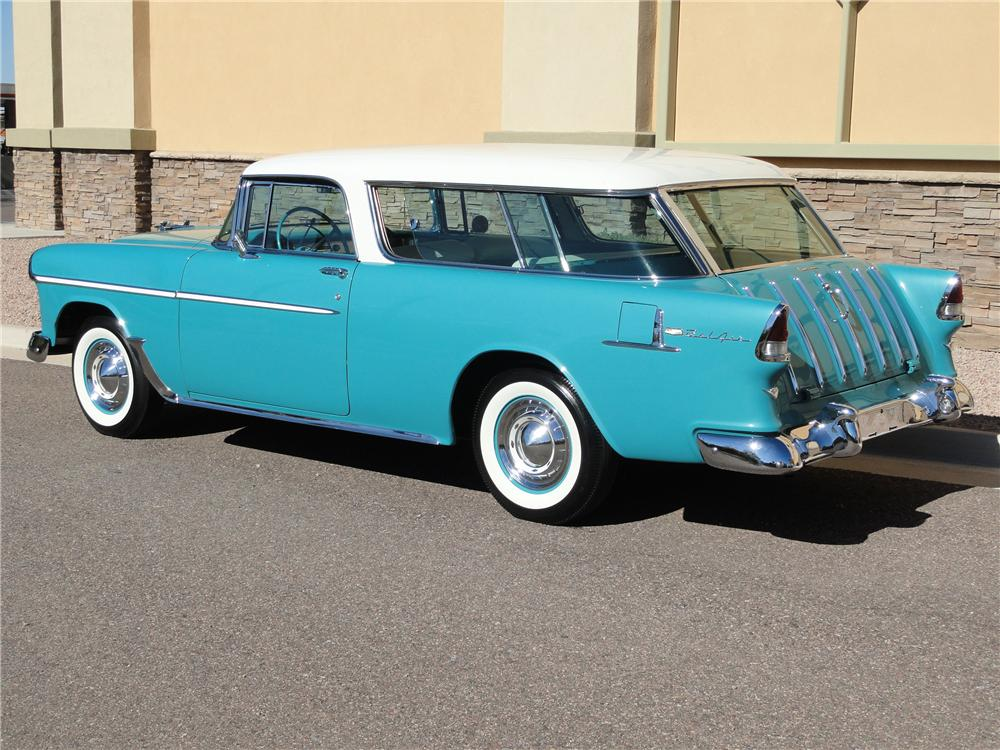 1955 CHEVROLET NOMAD WAGON - Rear 3/4 - 125137